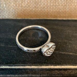 Brighton Diamond like Silver Heart ring